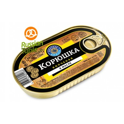 Korushka (Smelt) smoked with oil 175gr