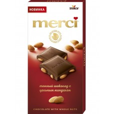 Dark chocolate Storck Merci with whole nuts 100g