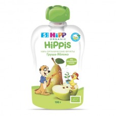 """HiPP"" Apple/Pear Puree 100g (4 month +)"