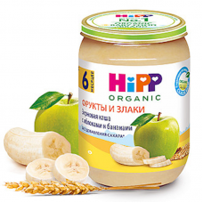 """""""HIPP"""" multigrain cereal with apples and bananas, 190 g"""