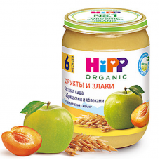 """""""HIPP"""" oatmeal with apricot and apple, 190 g"""