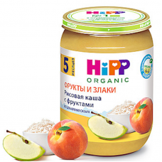 """""""HIPP"""" rice cereal with fruits, 190 g"""