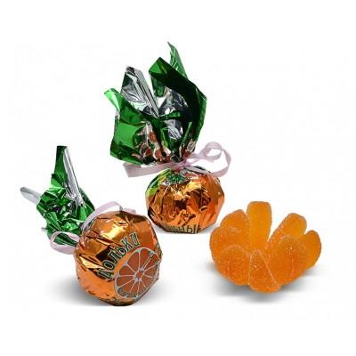 Orange flavored jelly candies
