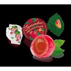 Pomegranate caramel candies with fruit flavour