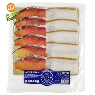 Assorted Smoked Fish (Salmon, Turbot) 227gr