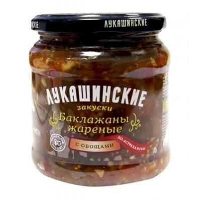 "Eggplant ""Lukashinskie"" fried, with vegetables"