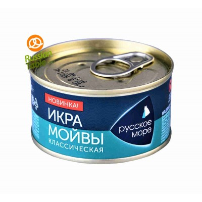 "Moiva (Capelin) Caviar Classic Salted ""Russkoe More"" 110g"