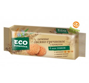 "Oatmeal-Buckwheat cookies ""Eco Botanica"" with Sesame seeds 280g"