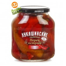 "Pickled Hot Pepper ""Lukashinskie"" Bakinskiy style 670g"