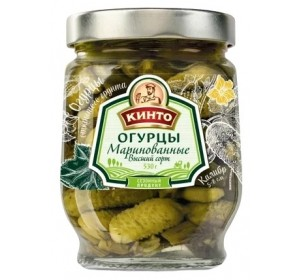 Pickled cucumbers Kinto. 530gr