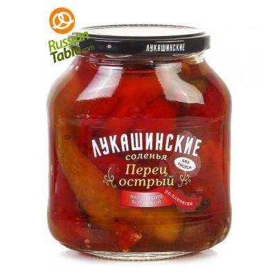 """Pickled Hot Pepper """"Lukashinskie"""" Bakinskiy style 670g"""