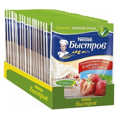"Porridge Oatmeal ""Bistrov"" Strawberry with milk"