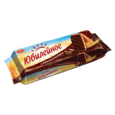 """Biscuit """"Yubilejnoe"""" vitaminized with dark glaze"""