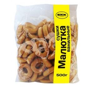 "Dry Bagels (Sushki) ""Malyutka"" Vanilla 500 g"