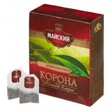 "Black tea ""Maisky"" ""Crown of the Russian Empire"" (100 count)"
