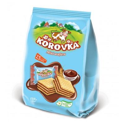 "Mini wafers ""Korovka"" Chocolate taste 150 g"
