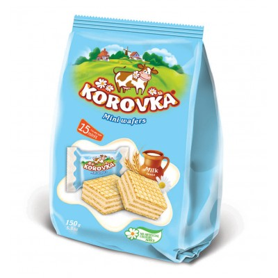 "Mini wafers ""Korovka"" Milk taste 150 g"