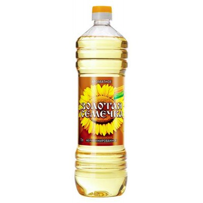 "Sunflower oil ""Golden Seed"" Unrefined"