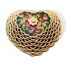 "Candy set ""KREMLINA Prune in chocolate"" (wooden Box)"