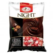 "Dark chocolate Candies ""Night"" with hazelnut cream and cereals filling"