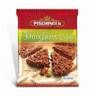 """Crispy wafer slices """"Pischinger"""" Haselnuss Ecken milk chocolate & hazelnuts 130g"""