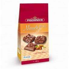 """Crispy wafer slices """"Pischinger"""" Mandel Ecken milk chocolate & almonds 200g"""