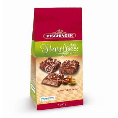 "Crispy wafer slices ""Pischinger"" Haselnuss Minis milk chocolate & hazelnuts 200g"