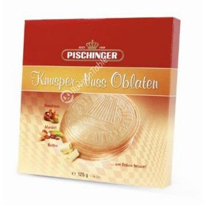 "Wafers ""Pischinger"" Knusper-Nuss Oblaten with hazelnut 125g"