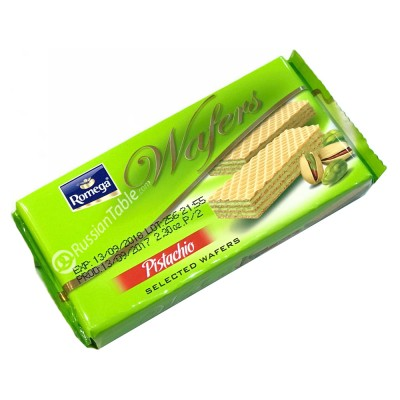 "Crispy wafer ""Romega"" filled with pistachio cream"