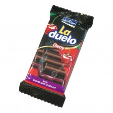 "Dark chocolate ""La Duelo"" with cherry cream filling"