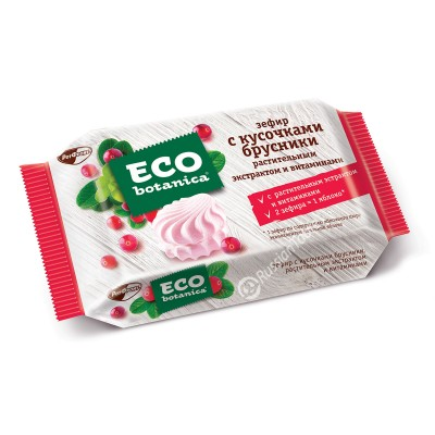 "Marshmallow (ZEFIR)""Eco-botanica"" with pieces of Cowberry"