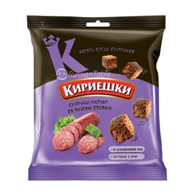 "Rye-wheat croutons ""Kirieshki"" salami taste"