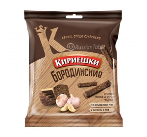 "Rye-wheat croutons ""Kirieshki Borodinskiye"" garlic taste"