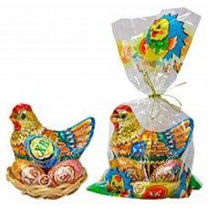 "Easter set ""Chicken and eggs"" (Chocolate) 120g"