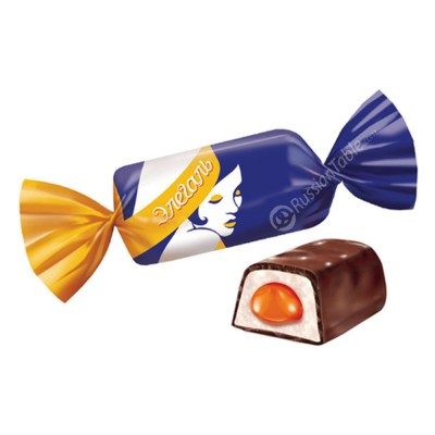 """Sweets """"Elegal"""" with Plombir and Orange"""