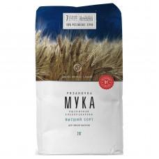 "Baking Wheat Flour ""Ryazanochka"" (highest grade) 2 kg"