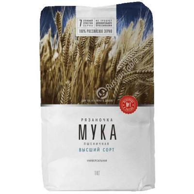 "Wheat Flour ""Ryazanochka"" universal 1kg"