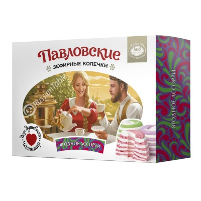 "Marshmallow (Zefir) ringlets ""Pavlovsky"" assorted berry"
