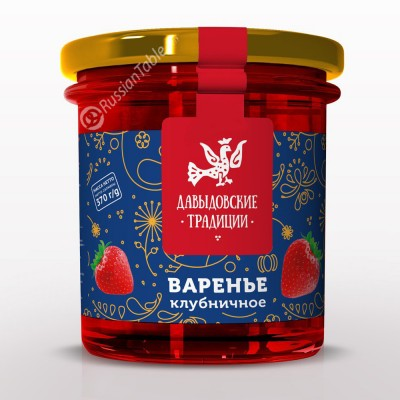 "Strawberry jam ""Davydov traditions"" 370 g"