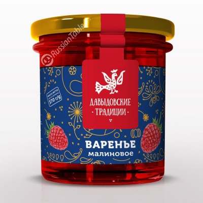 "Raspberries jam ""Davydov traditions"" 370 g"