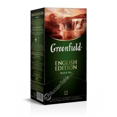 "Greenfield Black Tea ""English Edition"" 25 bags"
