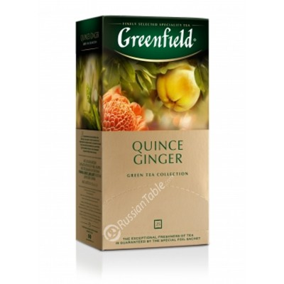 "Greenfield Green Tea ""Quince Ginger"" 25 pak"