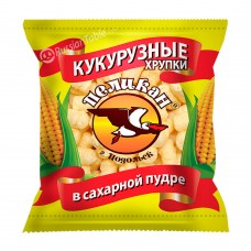 "Corn crisp ""Pelican"" in powdered sugar 400gr"