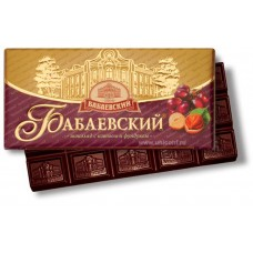 "Imported Russian Chocolate ""Babaevskiy"" with hazelnuts and raisins"