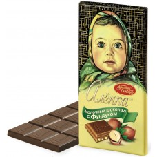 "Imported Russian Milk Chocolate ""Alionka"" with hazelnuts"
