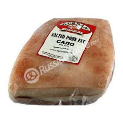 Pork fat with salt Ukrainian Style 1 lb +/-