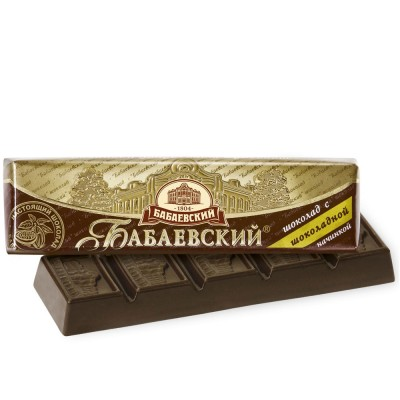 "Imported Russian Chocolate Bar ""Babaevsky"" with Chocolate Filling"
