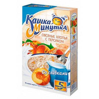 """Oat Flakes """"Kasha Minutka"""" with Peaches"""