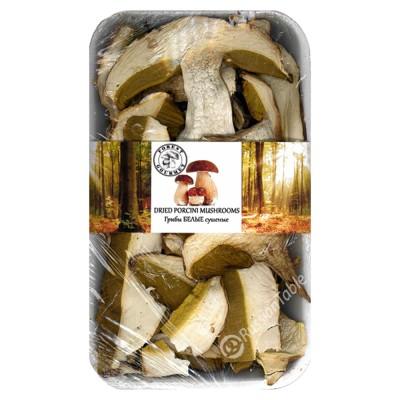 White dried porcini mushrooms