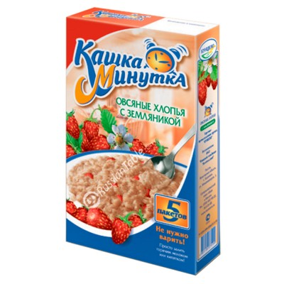 "Oat Flakes ""Kasha Minutka"" with Wild Strawberries"